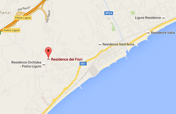 Posizione Residence Dei Fiori a Pietra Ligure